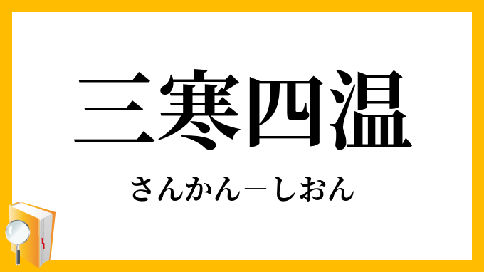 三寒四温」(さんかんしおん)の意味